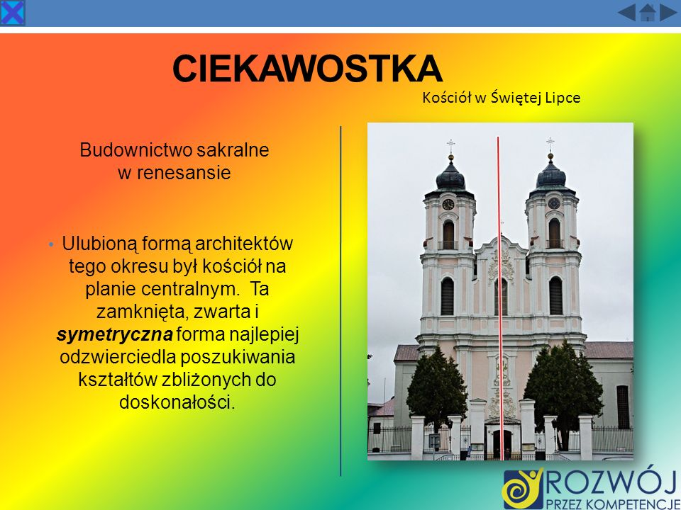 CIEKAWOSTKA Budownictwo sakralne w renesansie