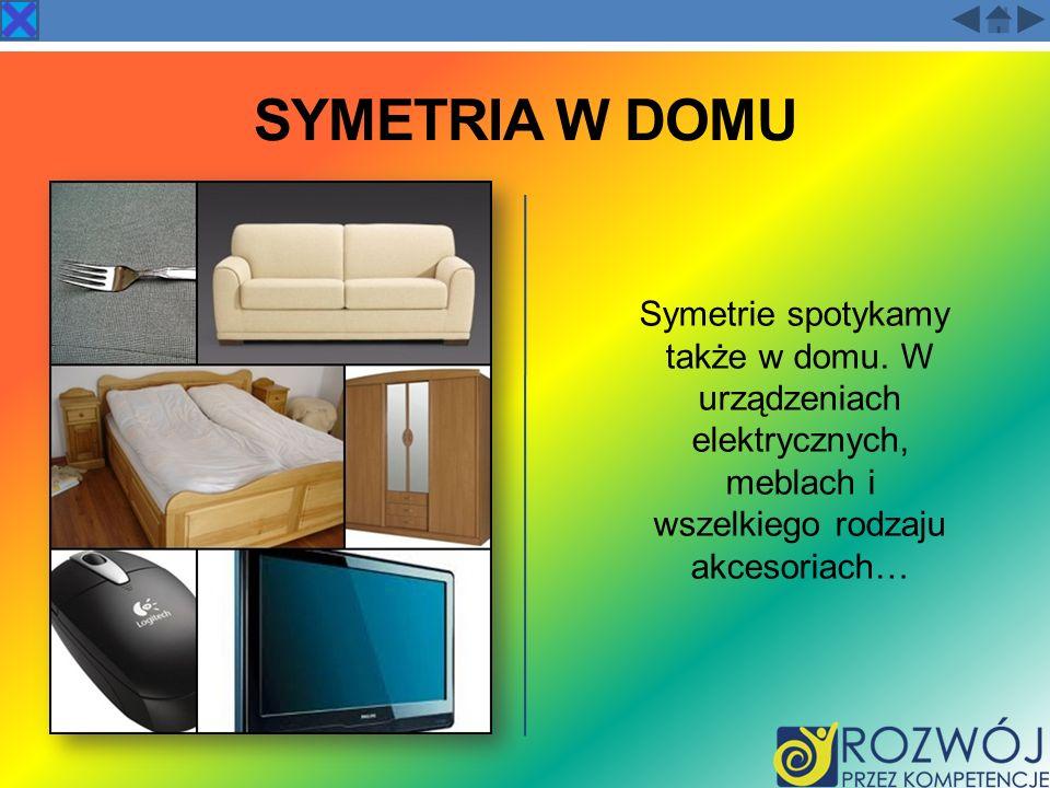 SYMETRIA W DOMU Symetrie spotykamy także w domu.