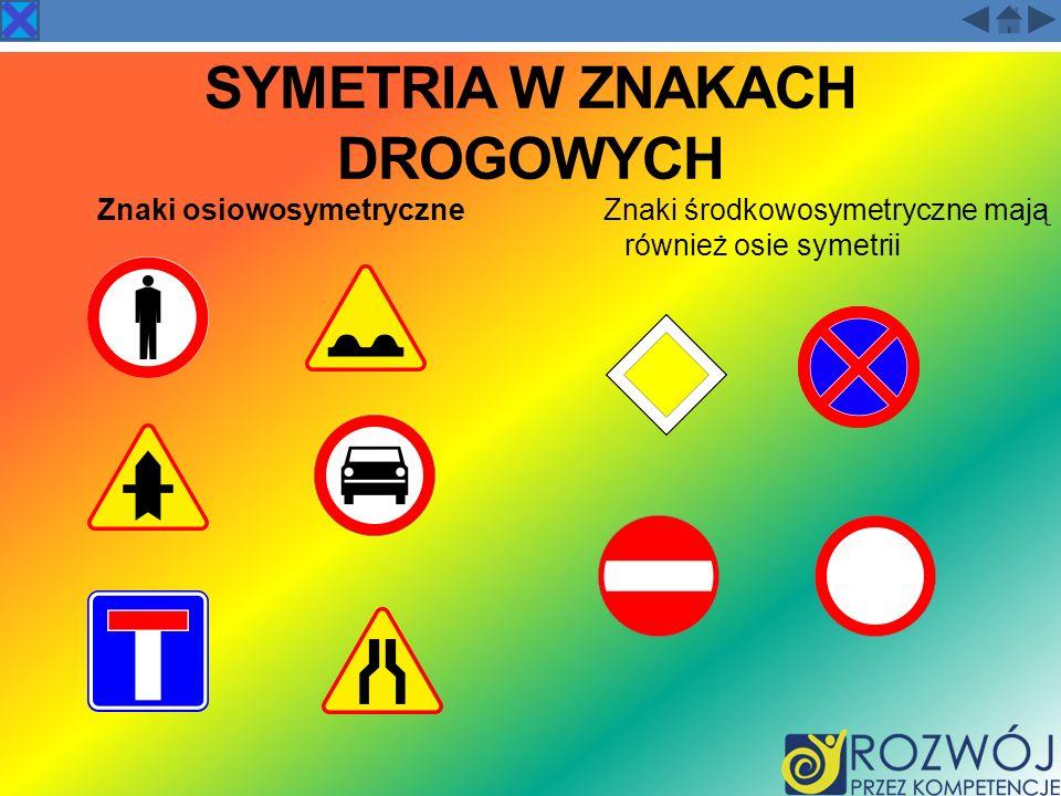 Symetria w znakach drogowych