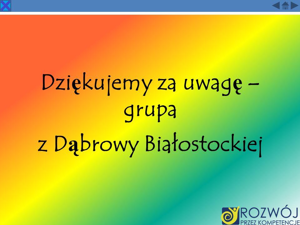 Dziękujemy za uwagę – grupa z Dąbrowy Białostockiej