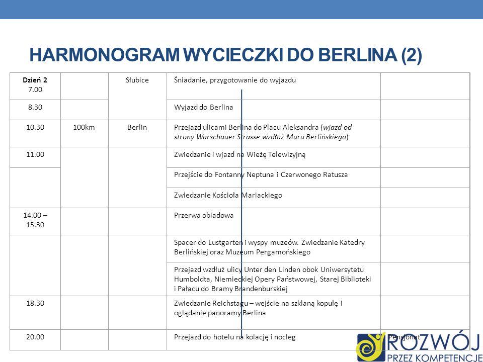 HARMONOGRAM WYCIECZKI DO BERLINA (2)