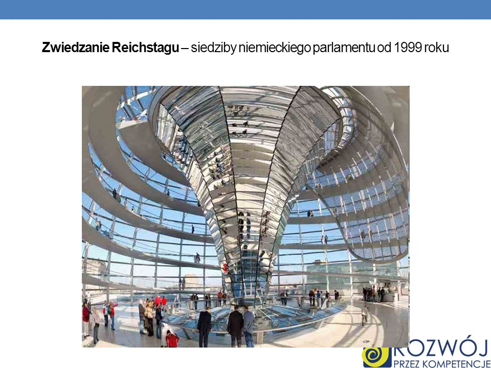 Zwiedzanie Reichstagu – siedziby niemieckiego parlamentu od 1999 roku