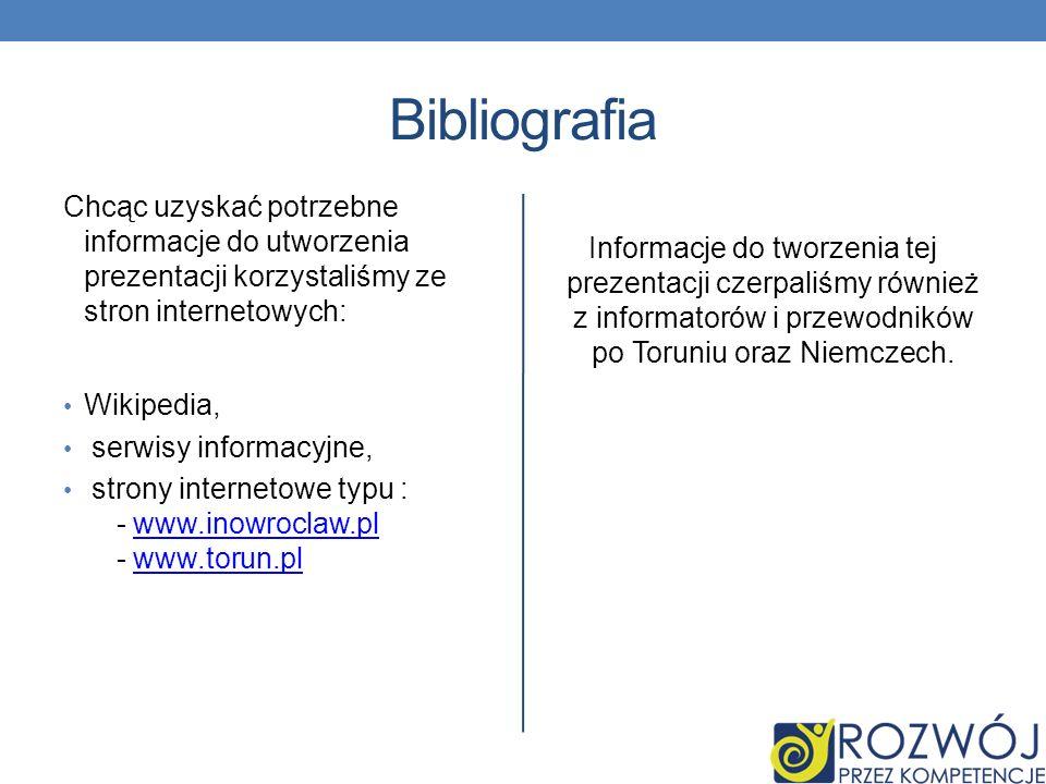 Bibliografia Chcąc uzyskać potrzebne informacje do utworzenia prezentacji korzystaliśmy ze stron internetowych: