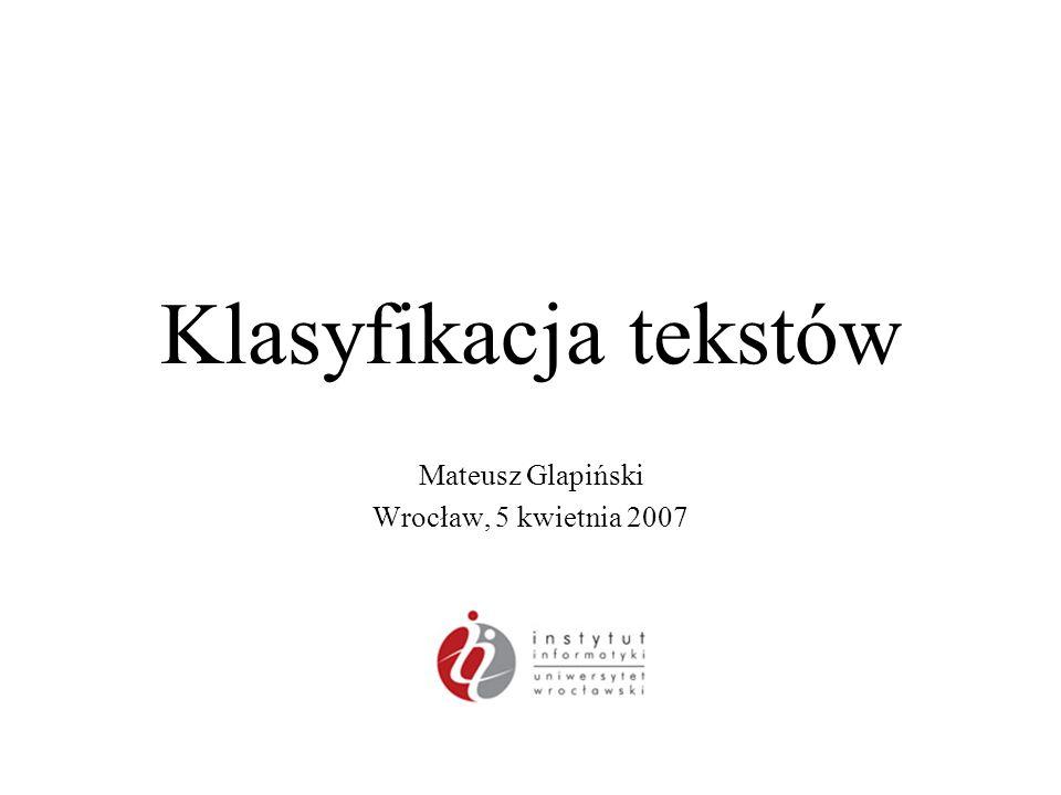 Mateusz Glapiński Wrocław, 5 kwietnia 2007