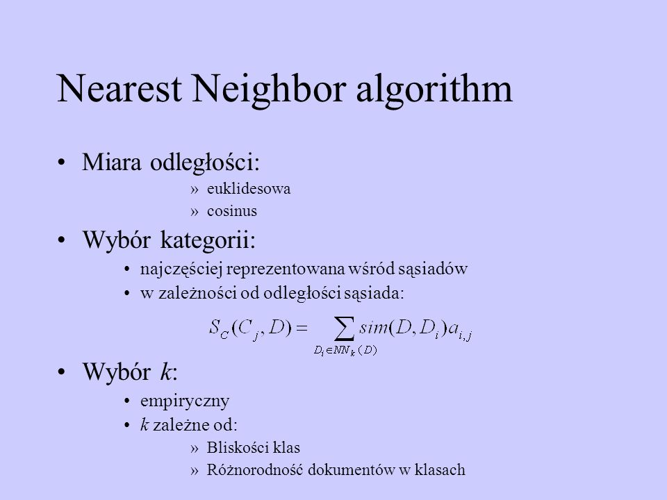 Nearest Neighbor algorithm
