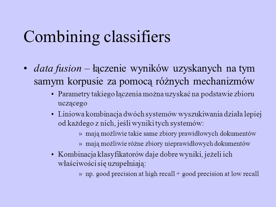 Combining classifiers