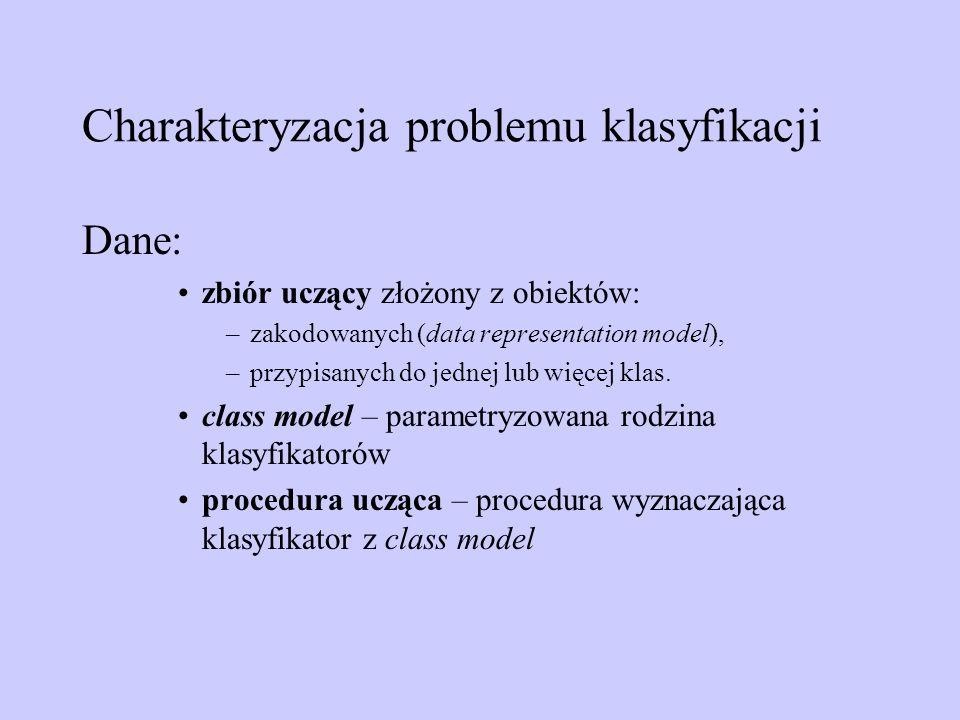 Charakteryzacja problemu klasyfikacji