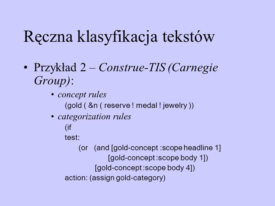 Ręczna klasyfikacja tekstów