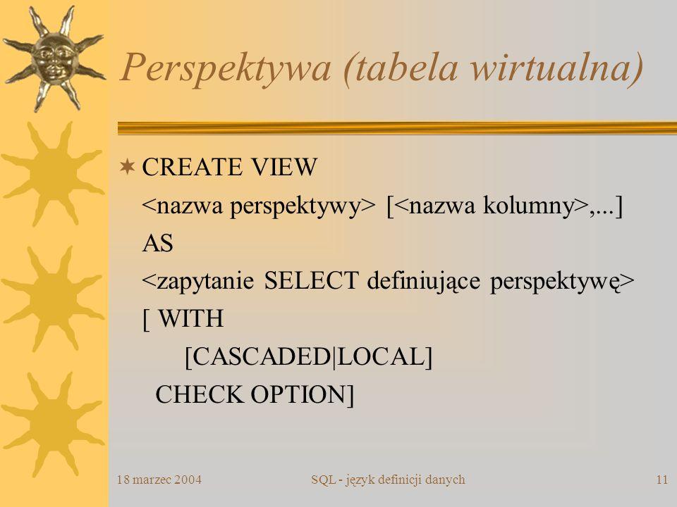 Perspektywa (tabela wirtualna)