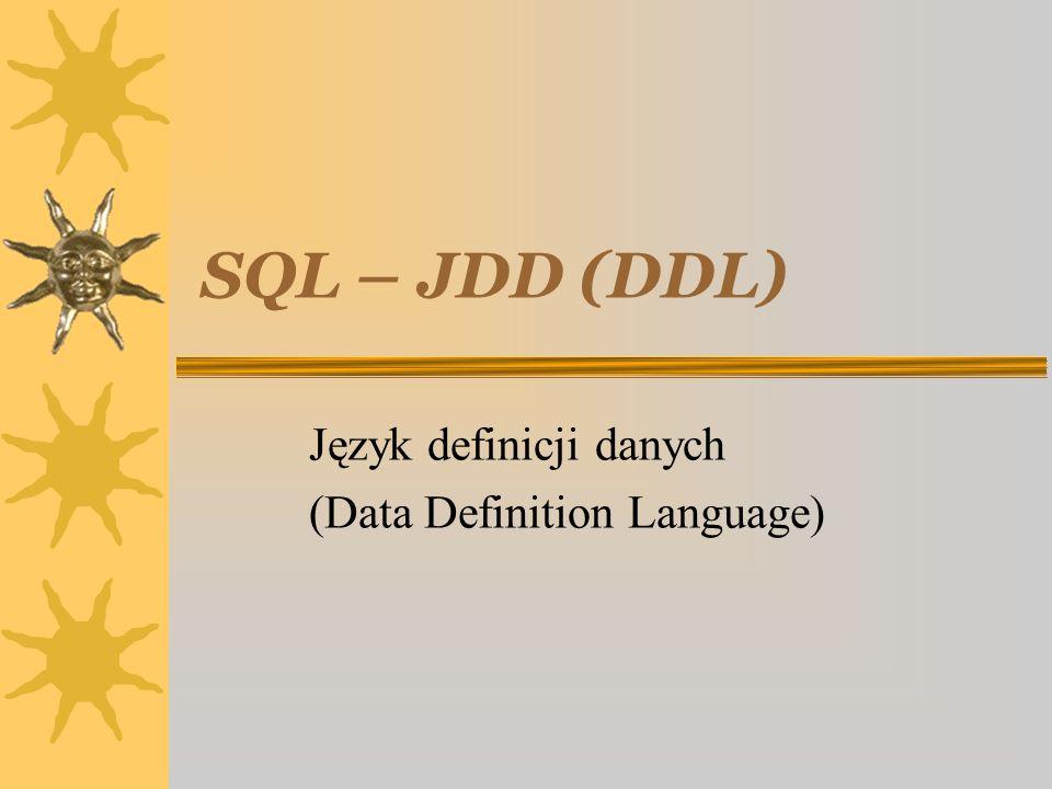 Język definicji danych (Data Definition Language)