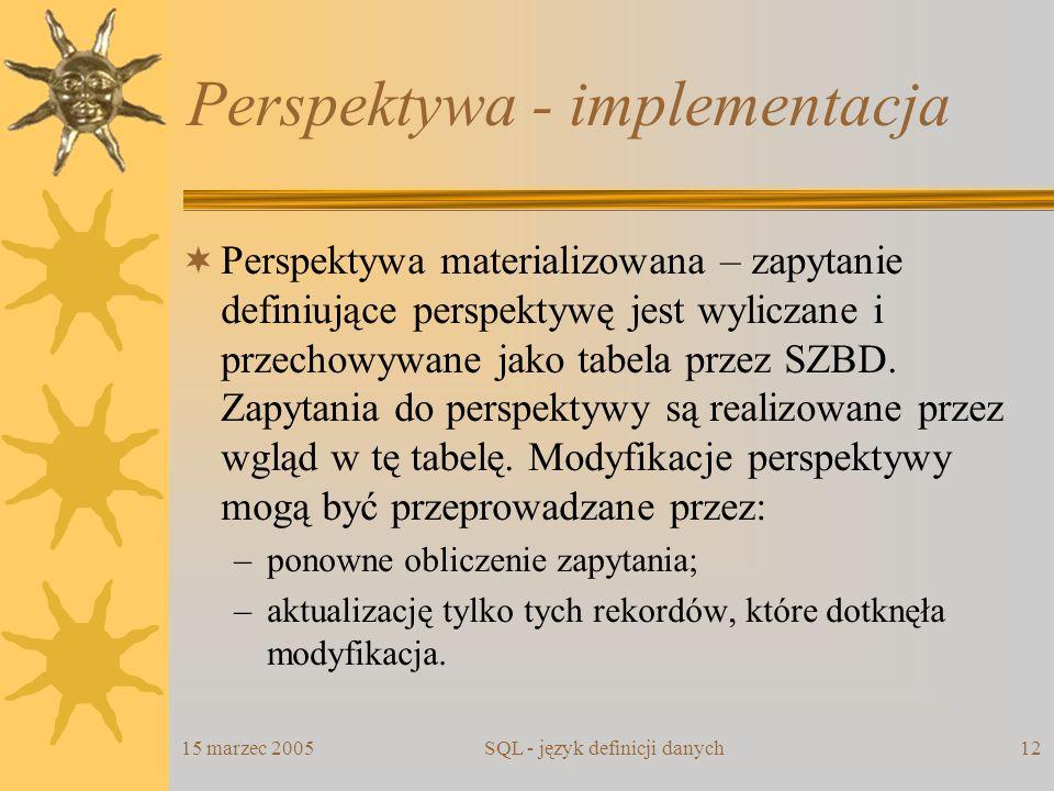 Perspektywa - implementacja