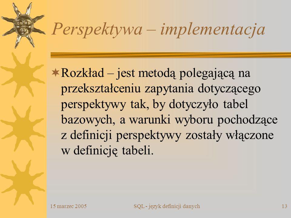 Perspektywa – implementacja