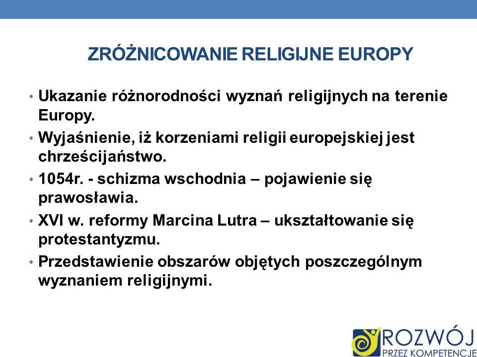 Zróżnicowanie religijne europy