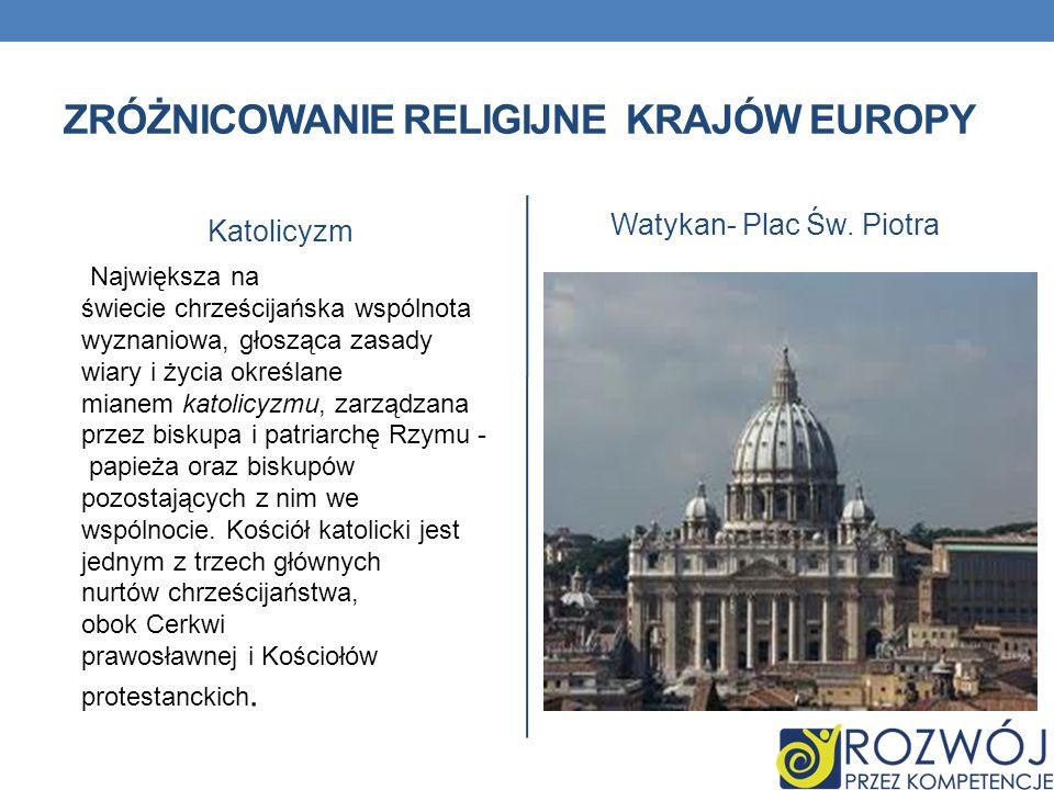 Zróżnicowanie religijne krajów europy