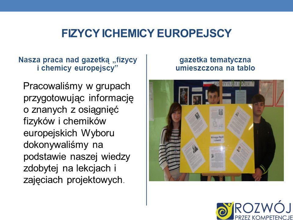 FIZYCY ICHEMICY EUROPEJSCY