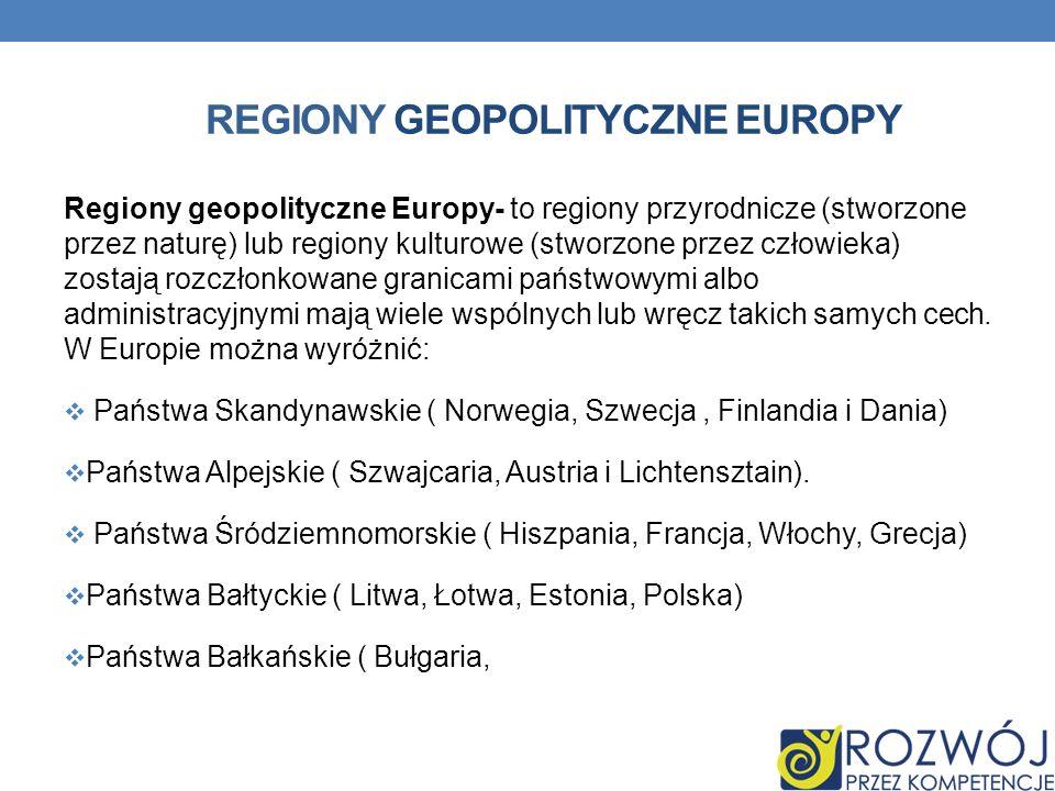 Regiony geopolityczne europy