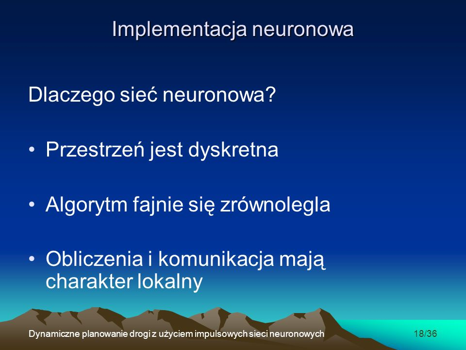 Implementacja neuronowa