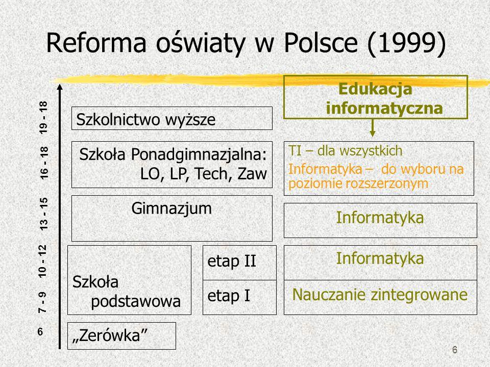 Reforma oświaty w Polsce (1999)