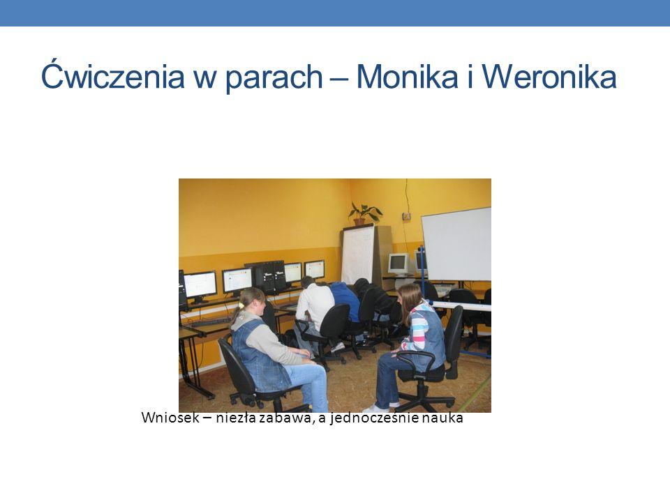 Ćwiczenia w parach – Monika i Weronika