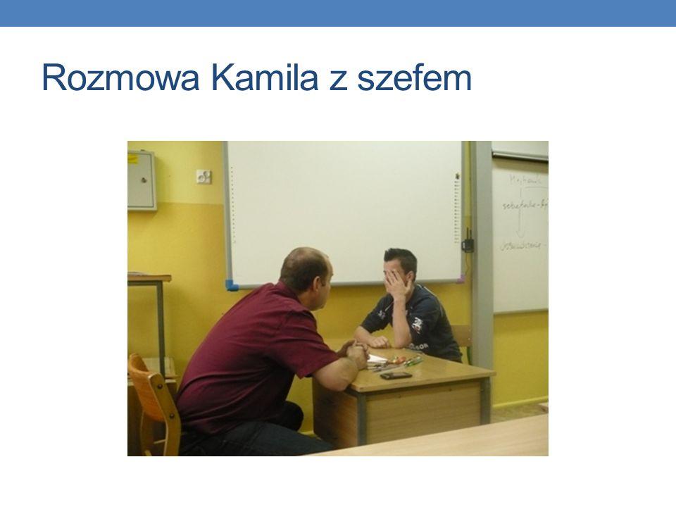 Rozmowa Kamila z szefem