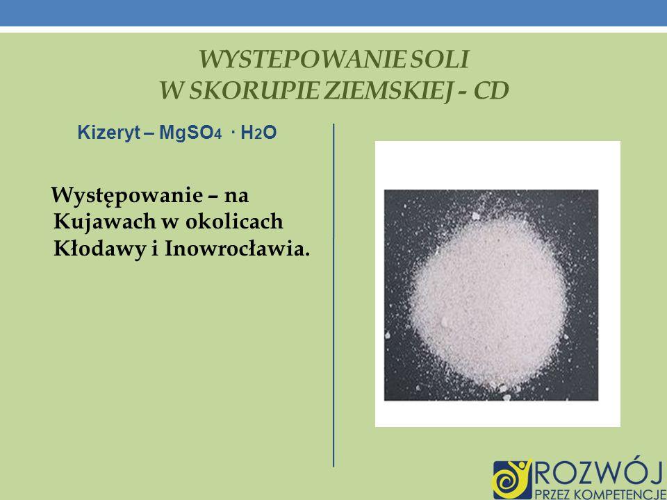 WYSTEPOWANIE SOLI W SKORUPIE ZIEMSKIEJ - CD