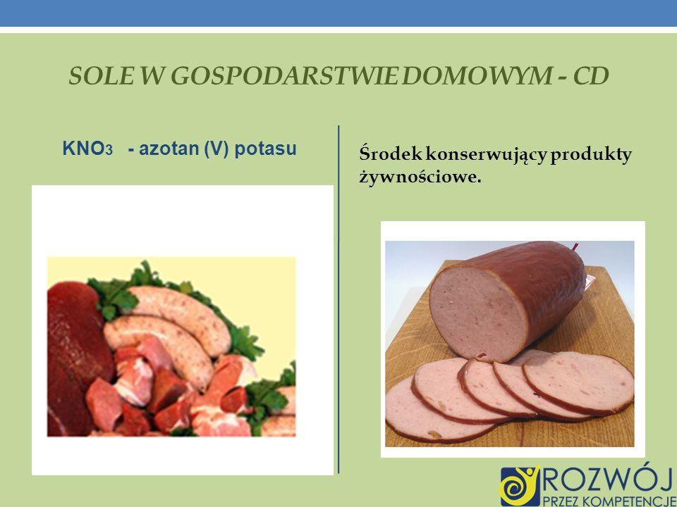 SOLE W GOSPODARSTWIE DOMOWYM - cd