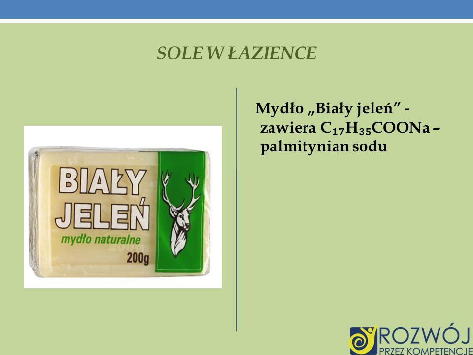 """SOLE W ŁAZIENCE Mydło """"Biały jeleń - zawiera C₁₇H₃₅COONa – palmitynian sodu"""