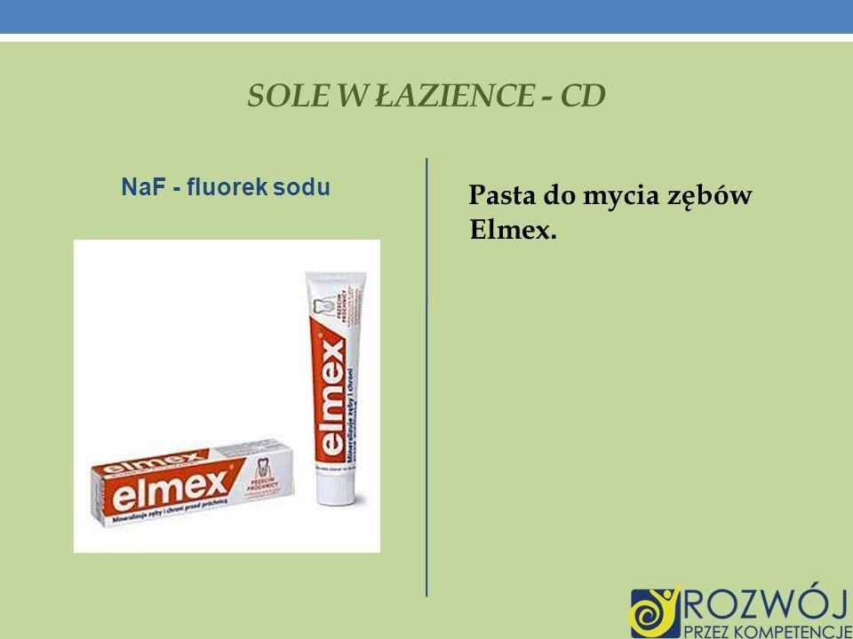 SOLE W ŁAZIENCE - CD NaF - fluorek sodu Pasta do mycia zębów Elmex.