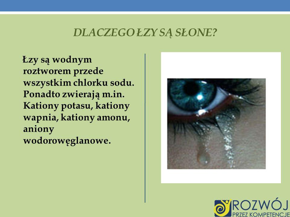 Dlaczego łzy są słone