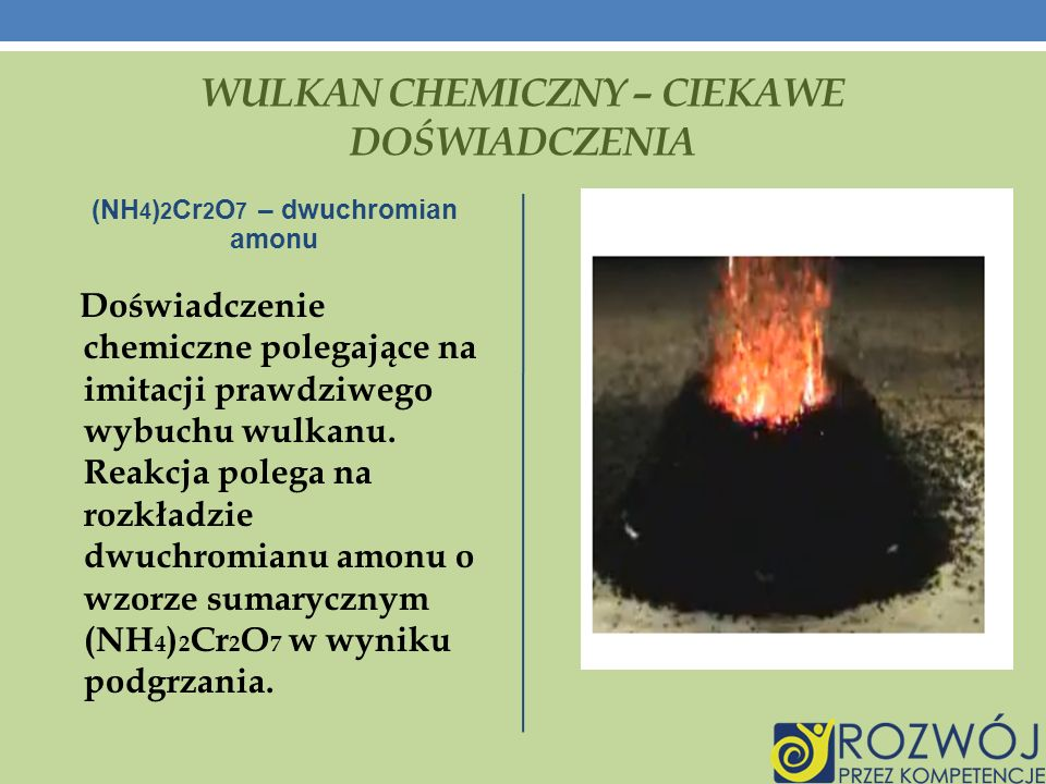 Wulkan chemiczny – ciekawe doświadczenia