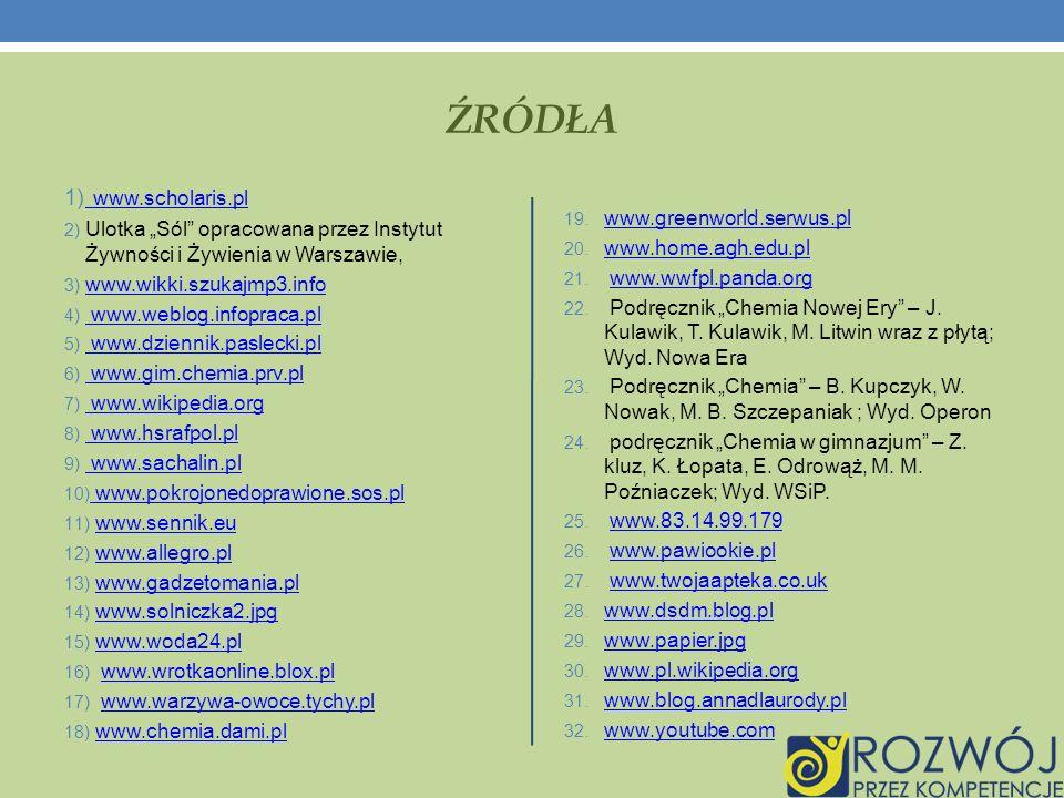 ŹRÓDŁA www.scholaris.pl
