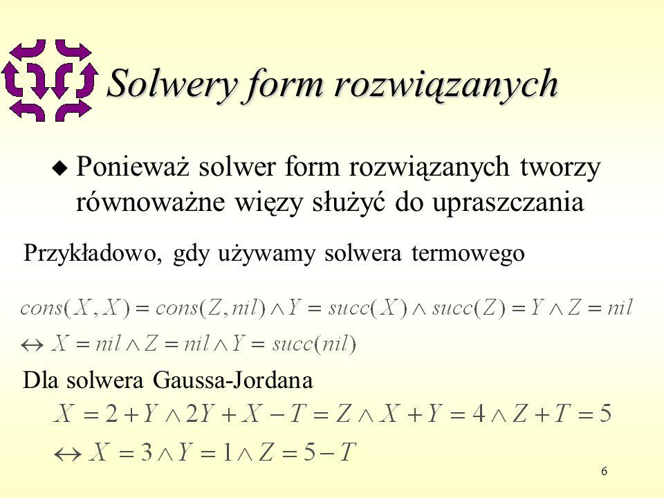 Solwery form rozwiązanych