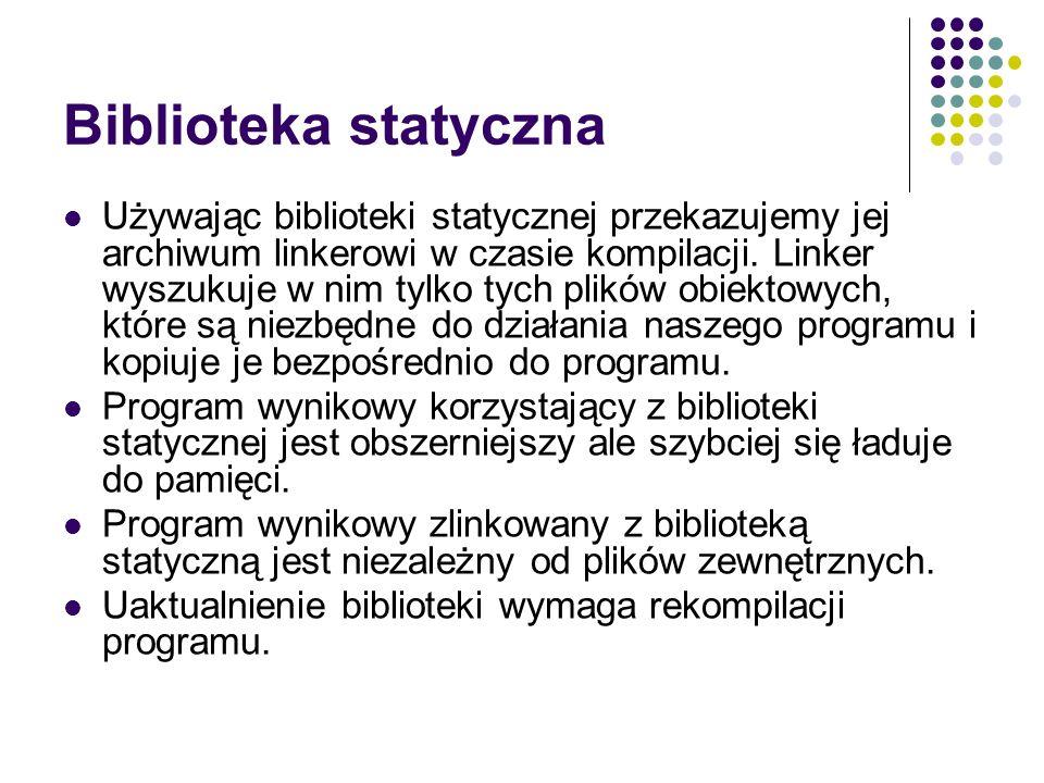 Biblioteka statyczna