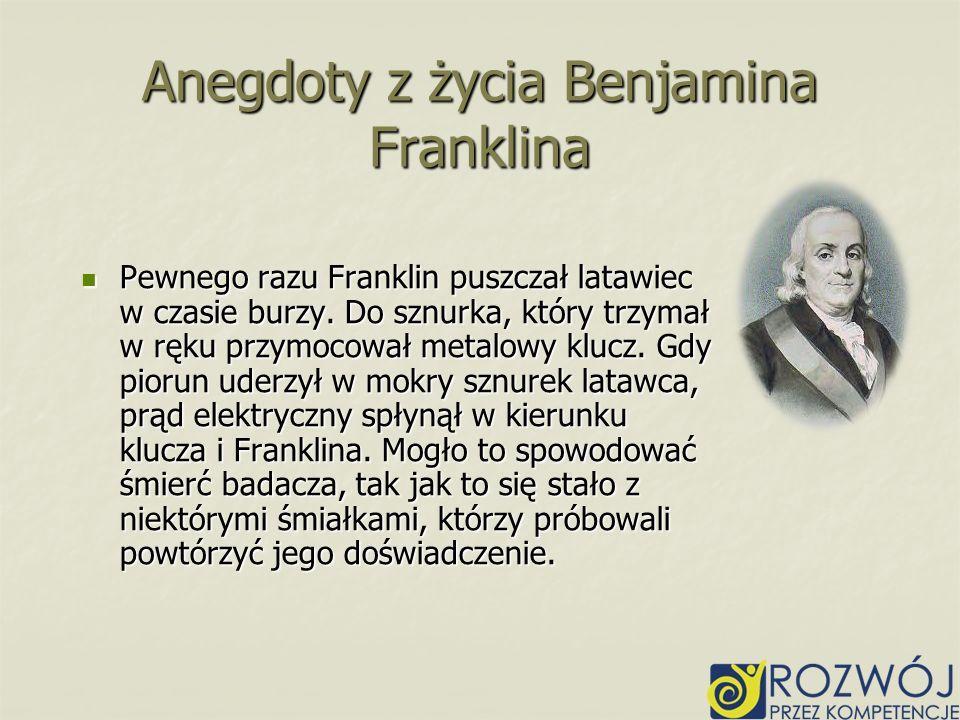 Anegdoty z życia Benjamina Franklina