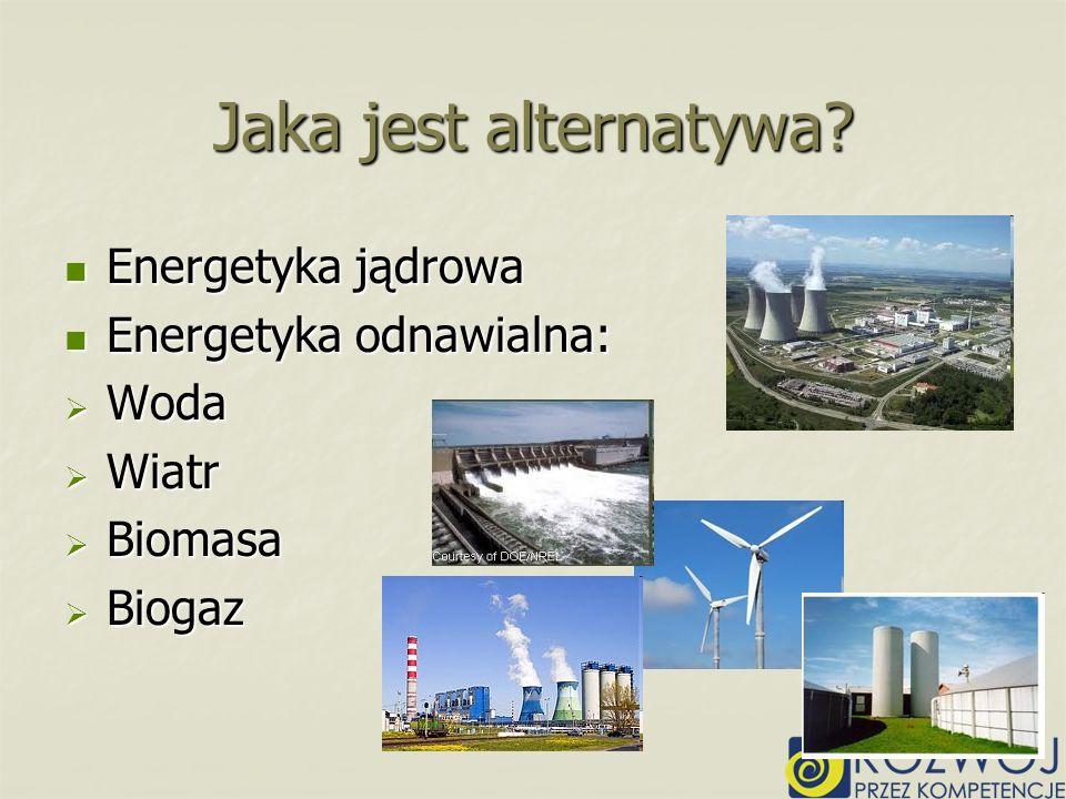 Jaka jest alternatywa Energetyka jądrowa Energetyka odnawialna: Woda