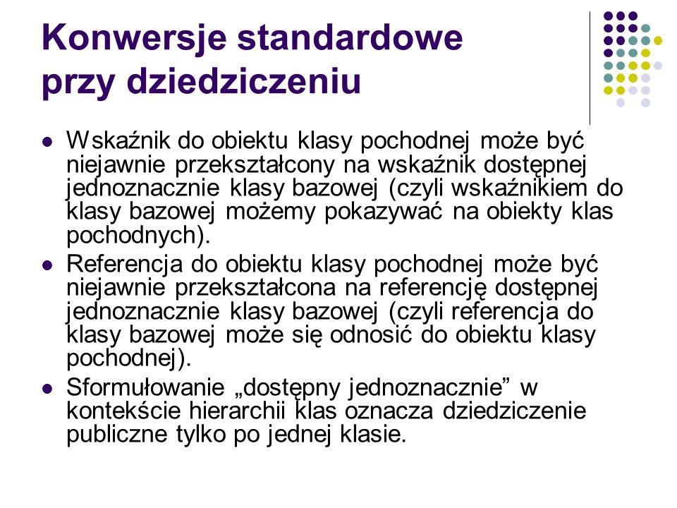 Konwersje standardowe przy dziedziczeniu