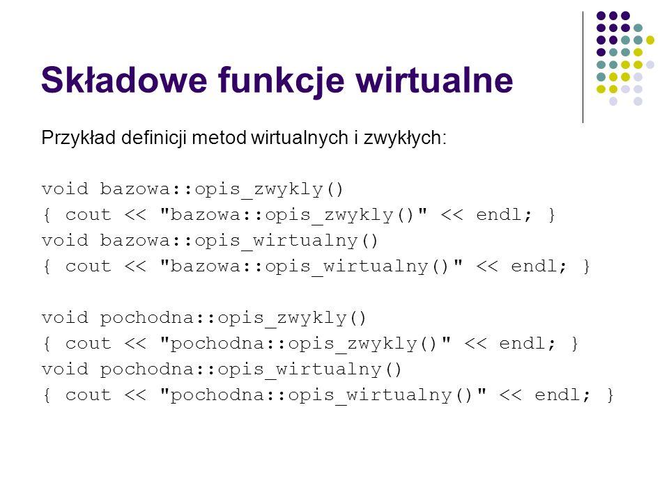 Składowe funkcje wirtualne