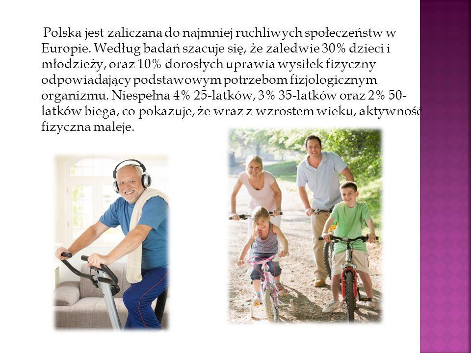 Polska jest zaliczana do najmniej ruchliwych społeczeństw w Europie