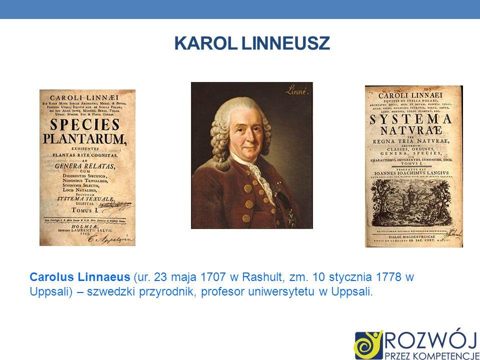 Karol LinneuszCarolus Linnaeus (ur.23 maja 1707 w Rashult, zm.