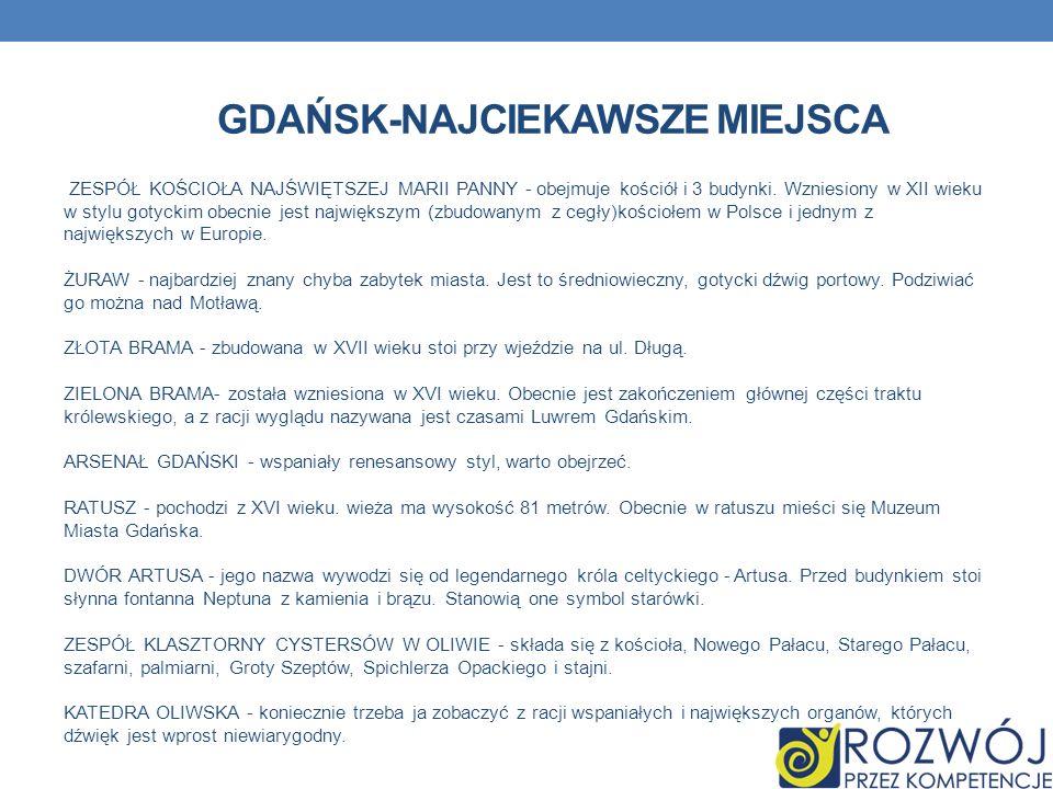 Gdańsk-najciekawsze miejsca