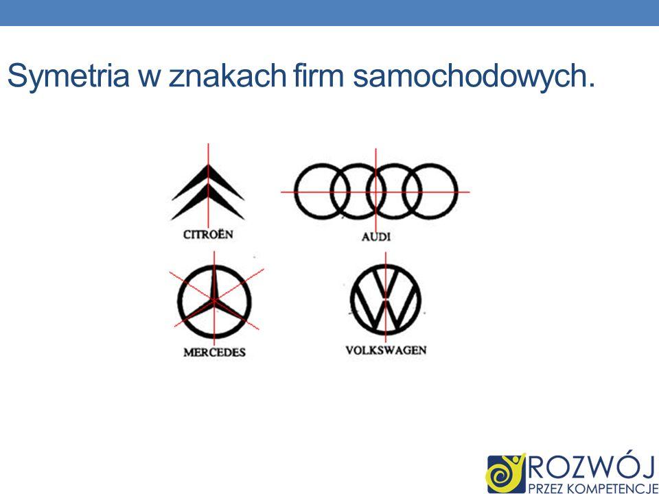 Symetria w znakach firm samochodowych.