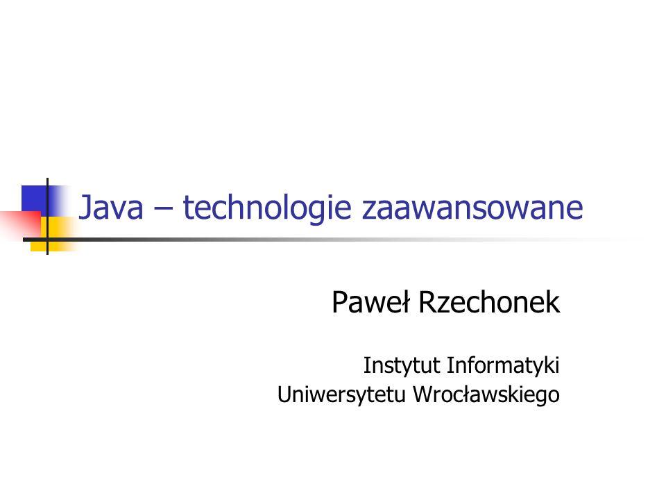 Java – technologie zaawansowane