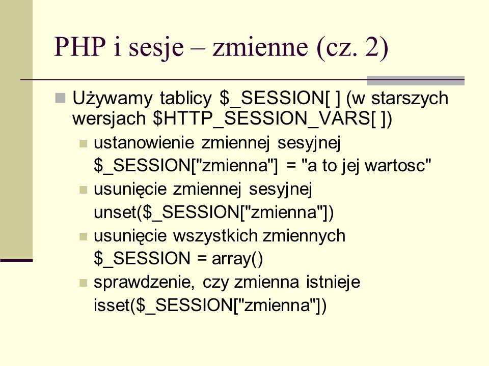 PHP i sesje – zmienne (cz. 2)