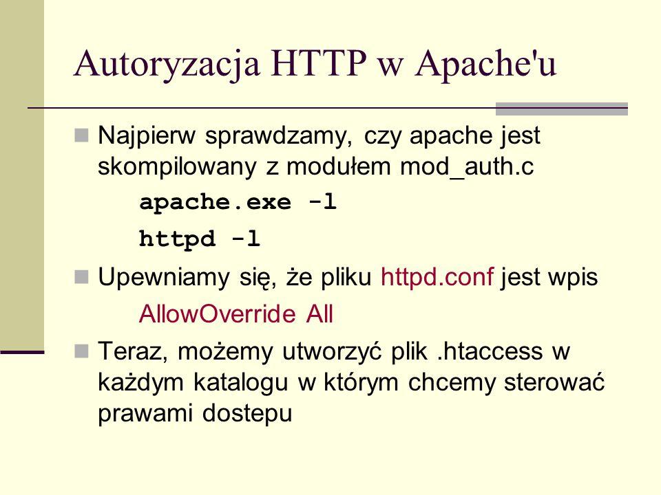 Autoryzacja HTTP w Apache u