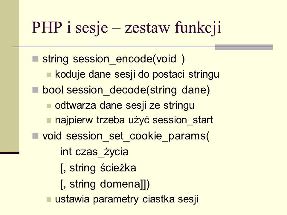 PHP i sesje – zestaw funkcji