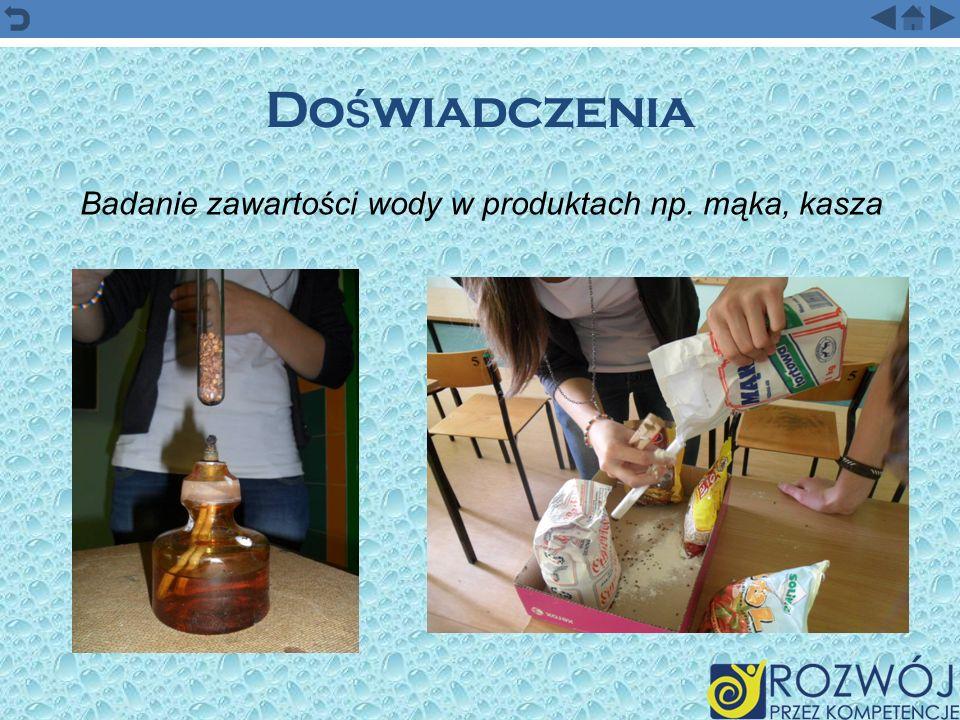 Badanie zawartości wody w produktach np. mąka, kasza