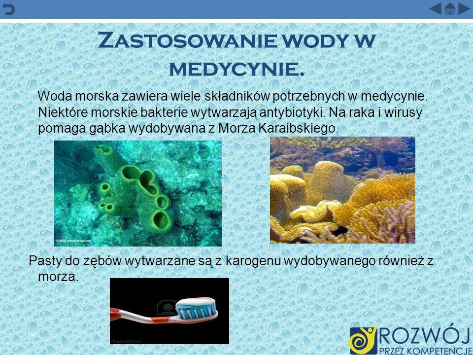 Zastosowanie wody w medycynie.