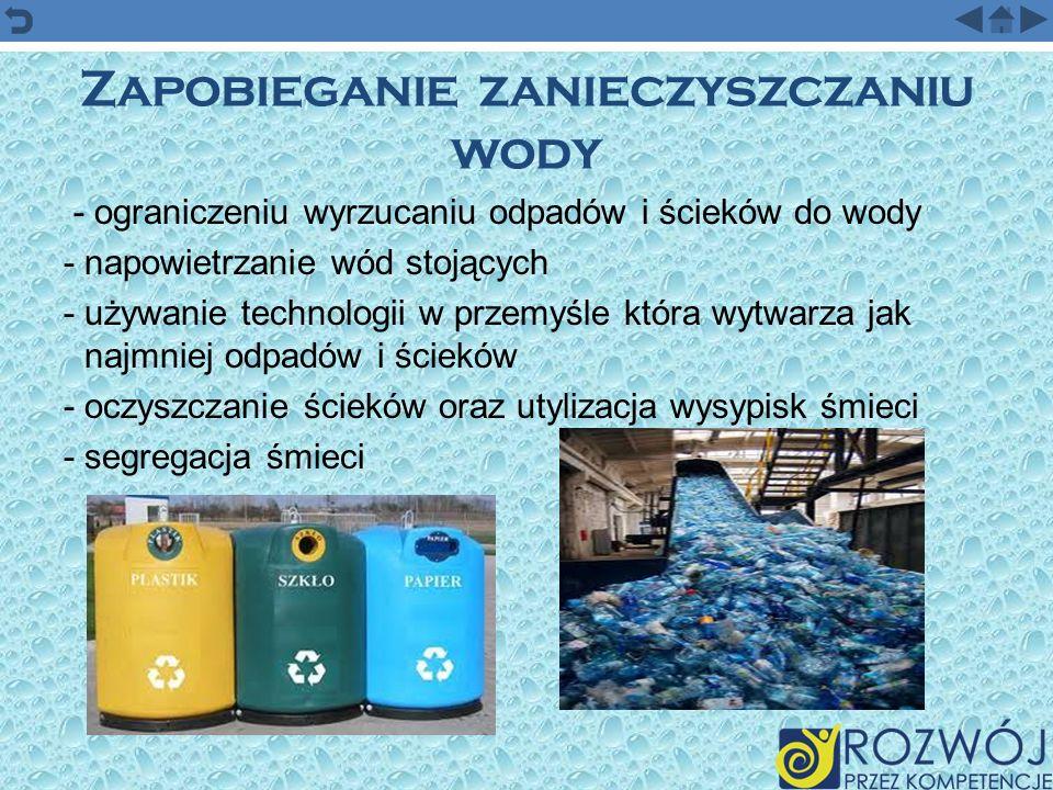 Zapobieganie zanieczyszczaniu wody