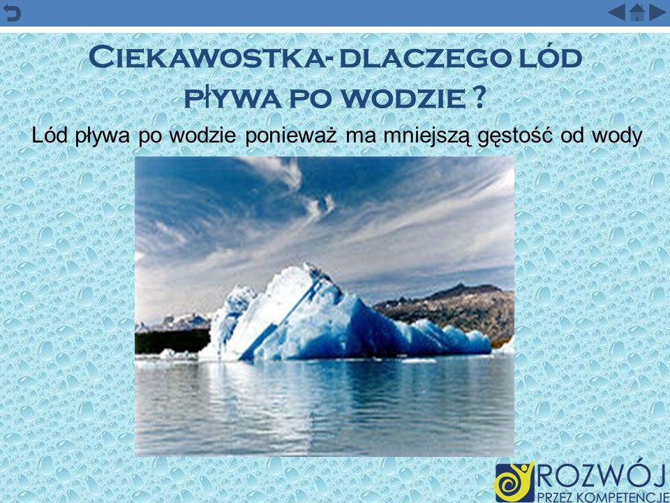 Ciekawostka- dlaczego lód pływa po wodzie