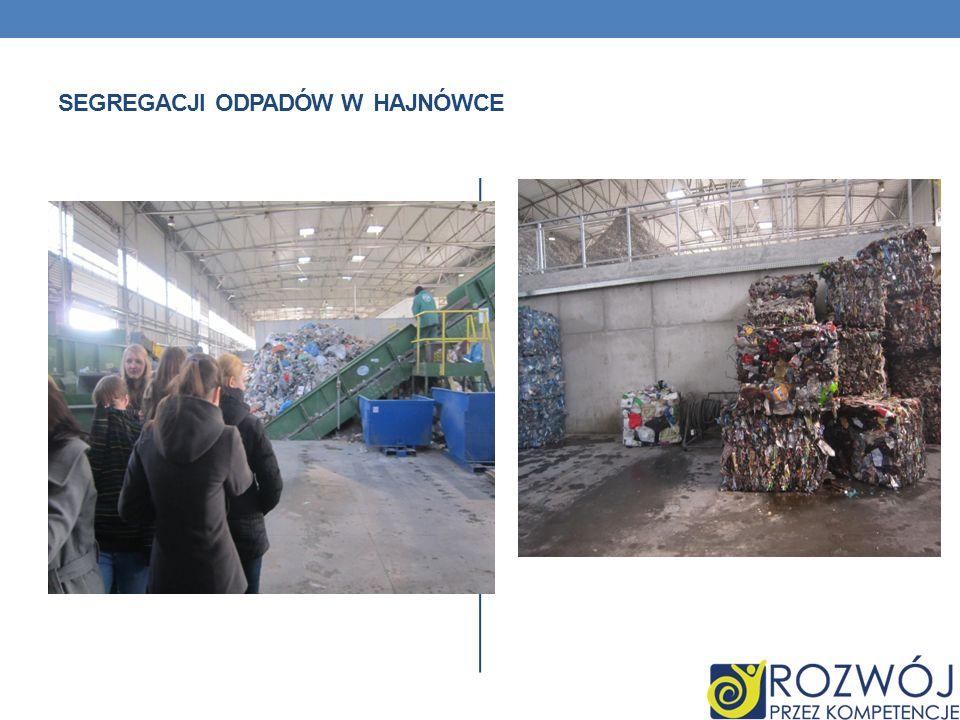 segregacji odpadów w Hajnówce